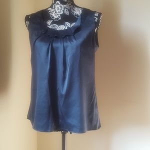 Banana Republic Dark Teal Sleeveless Top